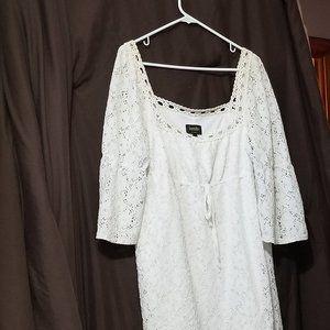 COPY - Pure White Crochet Mini-Dress